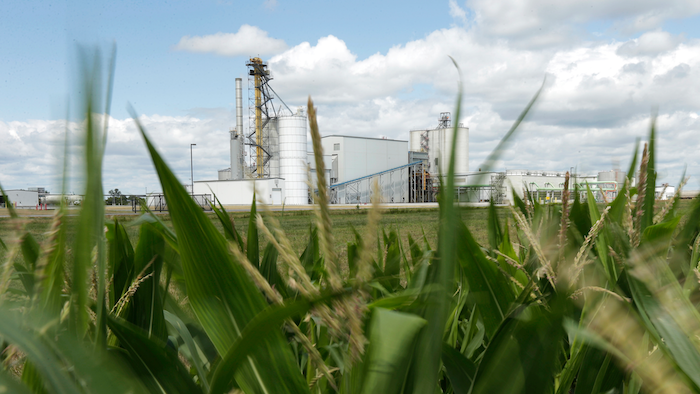 In this file photo, an ethanol plant stands next to a cornfield near Nevada, Iowa.