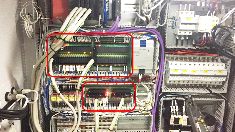 Figure 2: The connection density and efficiency provided by Dinkle signal and relay interface modules facilitate the design and manufacture of control panels by OEMs.